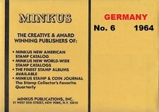 Minkus Germany 1964 illustrated Stamp Album Supplement Pages