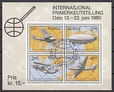 Norwegen Block 2 mit Ersttagstempel 5.8.1978 Geschichte der arktischen Luftfahrt