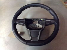 13464 H12H 12-16 MK5 SEAT IBIZA THREE SPOKE STEERING WHEEL WITH WHITE STITCHING