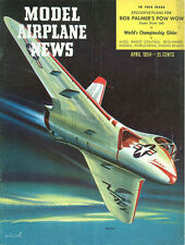 MODEL AIRPLANE NEWS APR 1954 RAF HANDLEY PAGE VICTOR NUCLEAR V-FORCE BOMBER