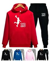 NEW Mens Michael Air Legend 23 Jordan Tracksuit Hoodie & Pants Men Sportswear