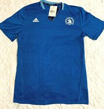 ADIDAS Mens Climalite Boston Marathon S/S Tee/T-Shirt Sz M -Royal Blue/White $55