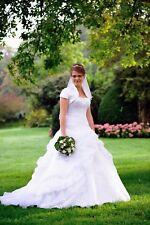 Brautkleid, Hochtzeitskleid, Hochzeitkleid - Größe 38 - 40 weiß