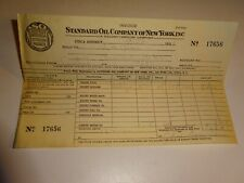 original 1933 Standard Oil Company of New York SOCONY Invoice Receipt 17656 Gas