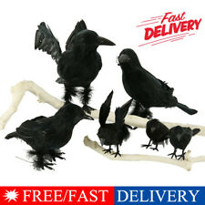 Black Lifesize Raven Movie Prop Fake Crow Halloween Fake Bird Hunting Decor sm