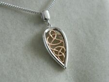 Clogau Sterling Silver & 9ct Rose Welsh Gold Welsh Royalty Pendant RRP £169.00