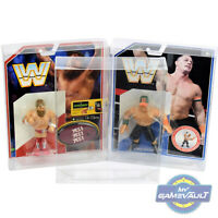 WWE Retro DISPLAY CASE x 10 for Mattel Figure 0.5mm Plastic Protective Protector