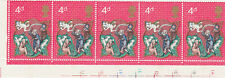 GB 1970 Christmas 4d Stamps Corner Block Cylinder Numbers MNH