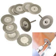 10X 60mm Diamond Cutting Disc Set & Drill Bit for Dremel Rotary Tool Glass Metal