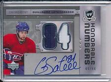 GUILLAUME LATENDRESSE 2006-07 THE CUP HONORABLE NUMBERS PATCH AUTO NOT 249  /84!