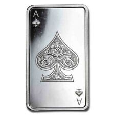 10 oz troy silver BAR PLAYING CARDS ACE OF SPADES .999