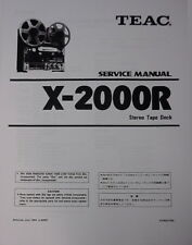 TEAC X-2000R TAPE DECK SERVICE MANUAL 64 Pages