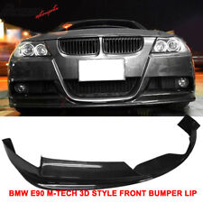 Fits 05-08 BMW E90 3-Series Mtec M-Sport 3D Style Front Bumper Lip CF
