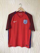 ENGLAND 2016 2017 AWAY FOOTBALL SHIRT SOCCER JERSEY RED NIKE 724608-600