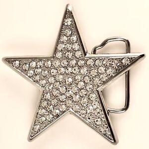 NEW Rhinestone Star Belt Buckle   Sparkle Bling Accessory