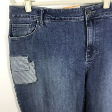 Style & Co. 24W Jeans Skinny Leg Women's Plus Size Blue Patchwork New NWT