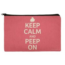 Keep Calm and Peep On Pencil Pen Organizer Zipper Pouch Case