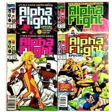 Alpha Flight Special 1-4 1991 Complete Limited Series Marvel Copper Age