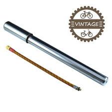 VINTAGE BIKE PUMP PRESTA 300MM TRADITIONNAL HAND FRAME ROAD OLD CLASSIC CHROMED