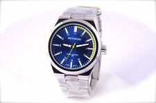 Sport Watch Blue Color Dial Silver-Tone Stainless Steel Band Water Proof 30M