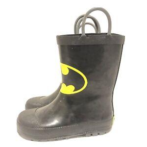 Batman Rain Boots Black Boys 9/10 Western Chief Kids DC Batman and Robin