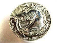 925 Sterling Silver Stallion Horse Snuff trinket Pill box Racing equestrian Hunt