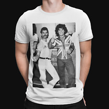 Freddie and Maradona T-Shirt Queen Diego 70s Retro Tee Argentina Retro Sport