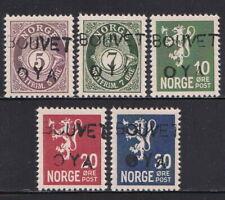 Norway 1934 Bouvet Island Overprint stamp set Gummed MNH Reproduction Stamp sv