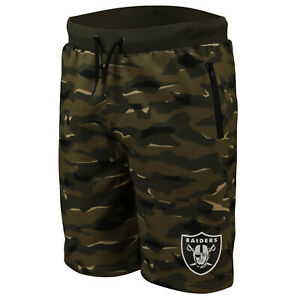 NFL Shorts Trousers Oakland Raiders Digi Camo Camouflage Training Football
