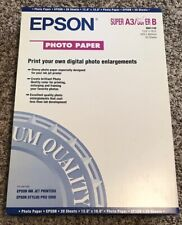 Epson Photo Paper 13.0 X 19.0 20 Sheets Brand New