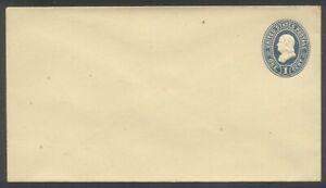 U.S. #U297 (887a) Mint Entire - 1c Dark Blue on Amber ($60)