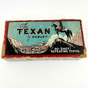 Vintage Hubley Texan Cast Iron Cap Gun Original Box Only AS IS