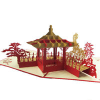 EE_ CREATIVE 3D POP UP GREETING CARD SUZHOU GARDEN THANKS CARD POSTCARD GIFT SUP
