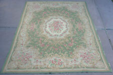Very Rare Antique 9 x 12 Room Size Crewel Chinese Aubusson Rug / Carpet AWESOME!