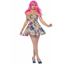 Forum Novelties 76718 Pop Art Dress (uk 10-12) - Fancy Ladies Costume Outfit