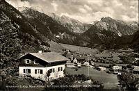 Hinterstein im Allgäu Postkarte 1964 Haus Amman mit Rauch Kugelhorn Älplekopf