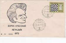 Iceland 1972 Spassky Charicature FDC Mint in polythene sleeve VGC