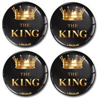 65mm 3D König Krone Silikon Aufkleber für Nabendeckel Felgendeckel Nabenkappen