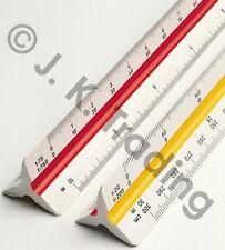 45cm Aluminium Triangle Scale Ruler 1:100 1:200 1:300 1:400 1:500 1:600Australia