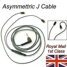 Asymmetric MMCX Earphone Cable - J Cable for Shure, Sony etc