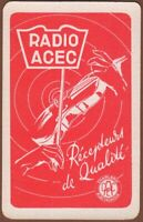 Playing Cards 1 Single Card Old Vintage RADIO ACEC Advertising PLAY VIOLIN MUSIC