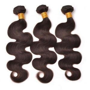 150G/3Bundles Dark Brown 2# Body Wave Human Hair Extensions Human Hair Weaves