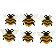 Bee Happy Dress It Up Craft Buttons x 6