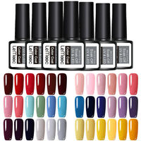 LEMOOC 6X 8ml Nagel Gellack Nail Art UV Gel Polish Soak off Gel UV Nagellack