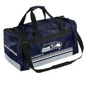 Seattle Seahawks Duffle Bag Gym Swimming Carry On Travel Luggage NEW Striped