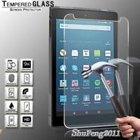 Tablet Tempered Glass Screen Protector Cover For Amazon Fire HD 8  (2018) alexa