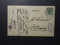 Germany 1910 Postal Card / Commercial Handstamp - Z12327