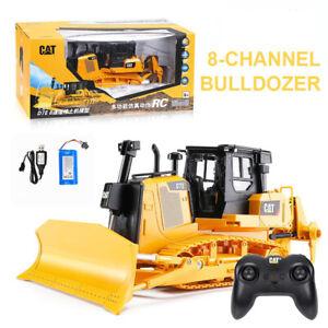 HUINA 1:24 RC 8CH Bulldozer Caterpillar Engineering Radio Controlled Excavator