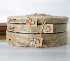 10M Vintage Jute Hessian Burlap Ribbon Rustic Wedding Party Floristry Decor Wrap