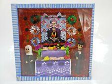 SHADOW BOX day of the dead nicho, handmade mexican folk art
